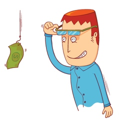 I see hanging money vector