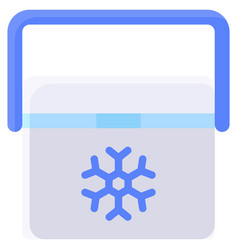 ice box icon summer vacation related vector image