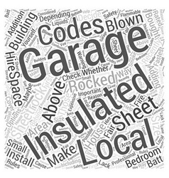 Insulating your garage Word Cloud Concept vector