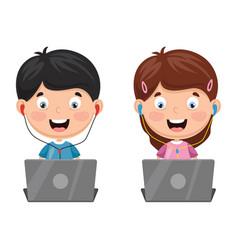 Kids technology vector