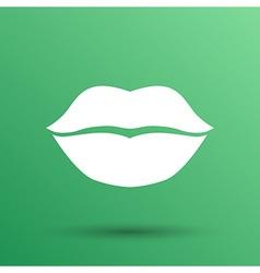kiss lips lipstick icon passion symbol people vector image
