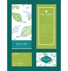 Lineart spring leaves vertical frame vector
