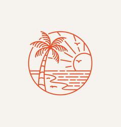 logotype summer beach logo template vector image