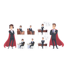male female business characters different office vector image