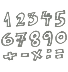 marker numbers vector image