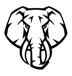 mascot stylized elephant head vector image