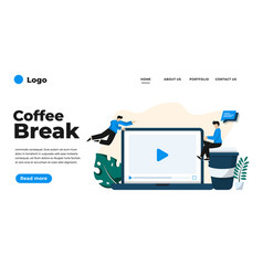 modern flat design coffee break can be used vector image