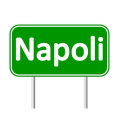 Napoli road sign vector image