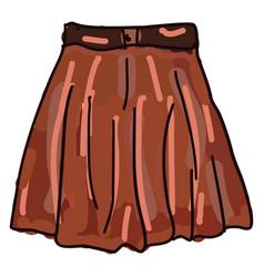 Orange skirt on white background vector