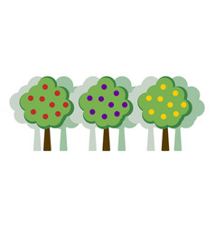 orchard concept flat vector image
