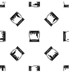 paint can pattern seamless black vector image