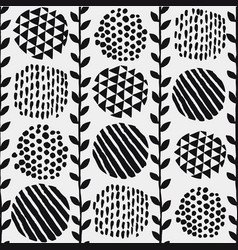 pattern vintage floral and spot elements vector image