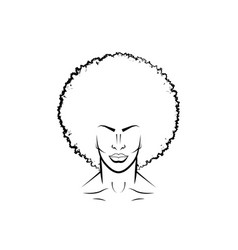 Portrait black man with curly hair afro avatar vector