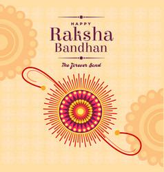 Poster design rakhi for rakshabandhan festival vector