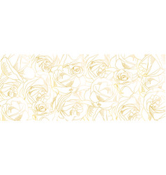 roses bud outlines pattern with contours vector image