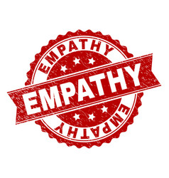 Scratched textured empathy stamp seal vector