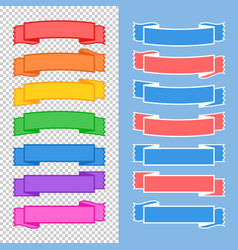 set of colored isolated banner ribbons on a vector image