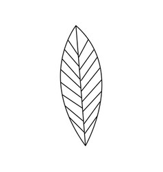Silhouette leaf with ramifications icon vector
