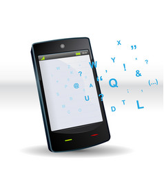 Smartphone abc vector