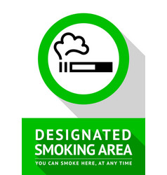 smoking place poster vector image