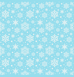 snowflakes pattern seamless background vector image
