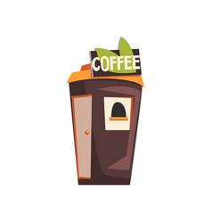 street coffee shop takeaway kiosk vector image