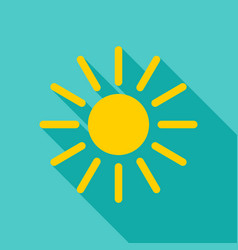 sun object icon vector image