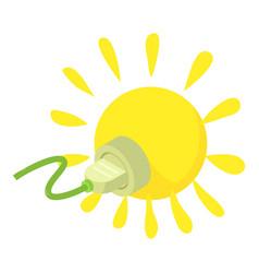 Sunlight icon isometric style vector