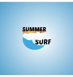 Surfing logo vector