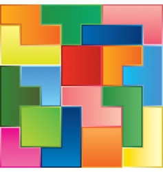 Tetris game pieces vector image