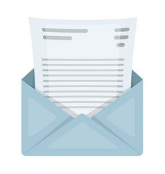 The envelope with the letter insidea letter for vector