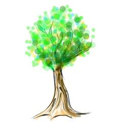 Tree cartoon icon isolated on white vector image