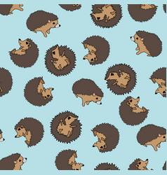 Tumbling hedgehogs seamless pattern vector