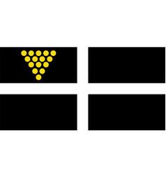Unofficial cornish ensign vector