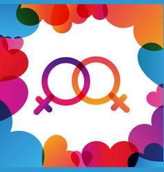Valentine day instagram card in trendy color vector