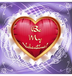 valentine greeting card with heart pillow vs vector image