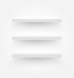 white empty shelves template for a content vector image