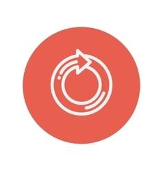 Circular arrow thin line icon vector