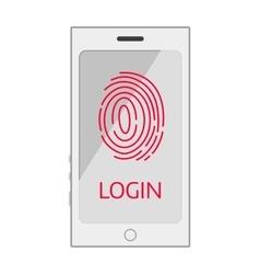 Finger screen finger mobile vector