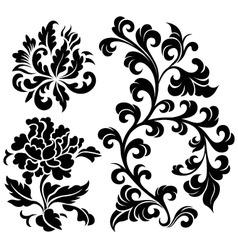 flower element vector image vector image