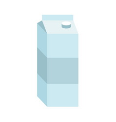 juice box paper packaging for milk isolated vector image vector image