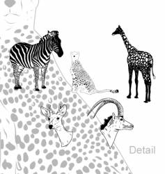 savanna animals vector image