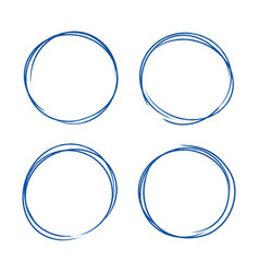 set of hand drawn grunge style dark blue vintage vector image vector image