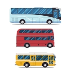 bus sity transportation Modern flat design vector image