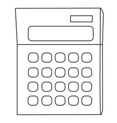 cartoon image of calculator icon mathematics vector image vector image