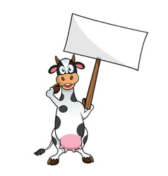 cow protesting vector image