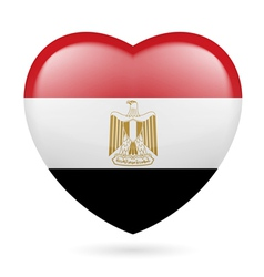 Heart icon of Egypt vector image vector image