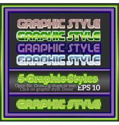 Set of bright colorful graphic styles for various vector