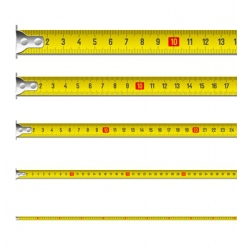 Tape measure in centimeters vector image vector image