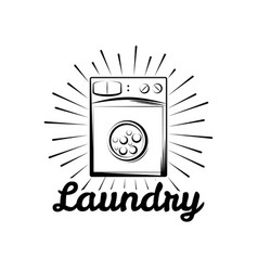 washing machine laundry room and dry cleaning vector image